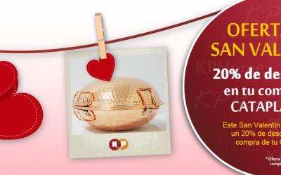 Para San Valentín 20% de descuento en Cataplanas